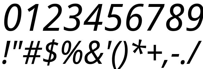 Avrile Sans Italic Schriftart Anderer Schreiben