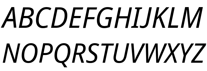 Avrile Sans Italic Schriftart Groß