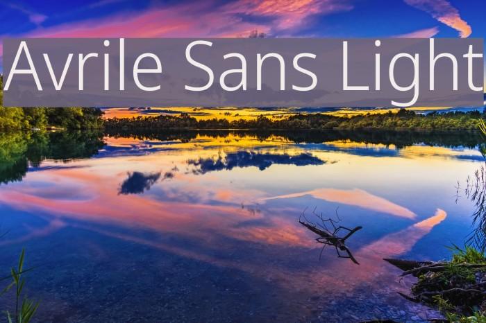 Avrile Sans Light Schriftart examples