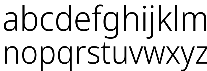 Avrile Sans Light Schriftart Kleinbuchstaben
