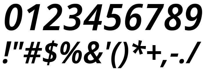 Avrile Sans SemiBold Italic Schriftart Anderer Schreiben