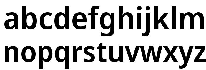 Avrile Sans SemiBold Schriftart Kleinbuchstaben