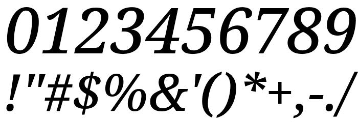Avrile Serif Medium Italic Schriftart Anderer Schreiben