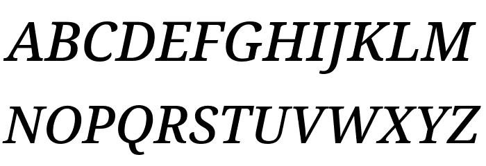 Avrile Serif Medium Italic Schriftart Groß