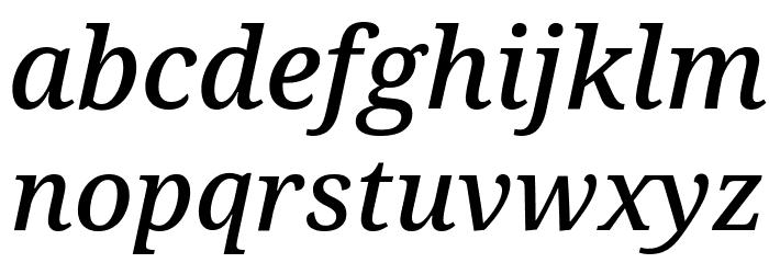 Avrile Serif Medium Italic Schriftart Kleinbuchstaben