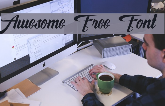 Awesome Free Font Font examples