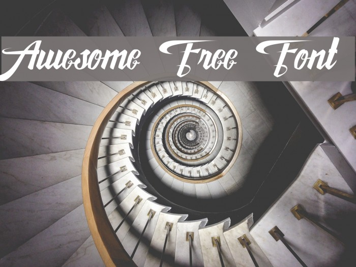 Awesome Free Font Schriftart examples