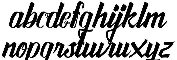 Awesome Free Font Schriftart Kleinbuchstaben