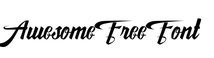 AwesomeFreeFont Font