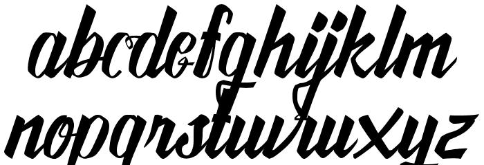 AwesomeFreeFont Font LOWERCASE