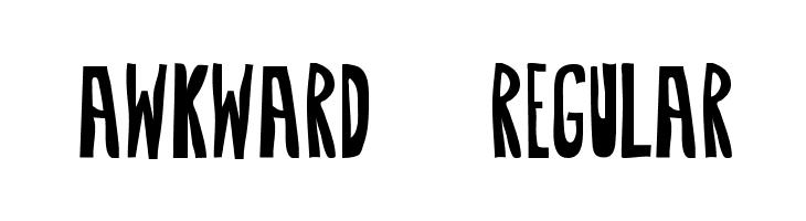 Awkward-Regular  Free Fonts Download