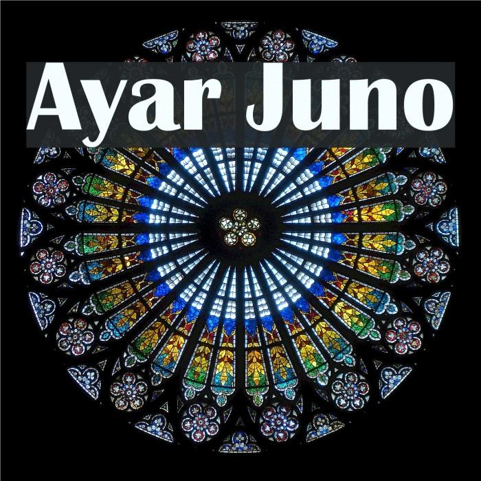 Ayar Juno Fonte examples