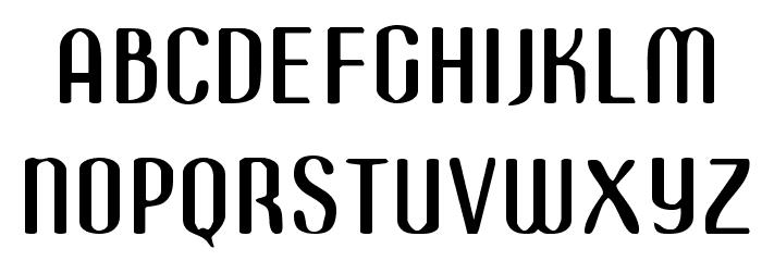 Azimech Font UPPERCASE