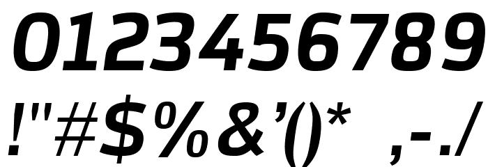 AzoftSans-BoldItalic Font OTHER CHARS