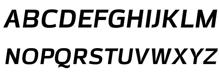 AzoftSans-BoldItalic Font UPPERCASE