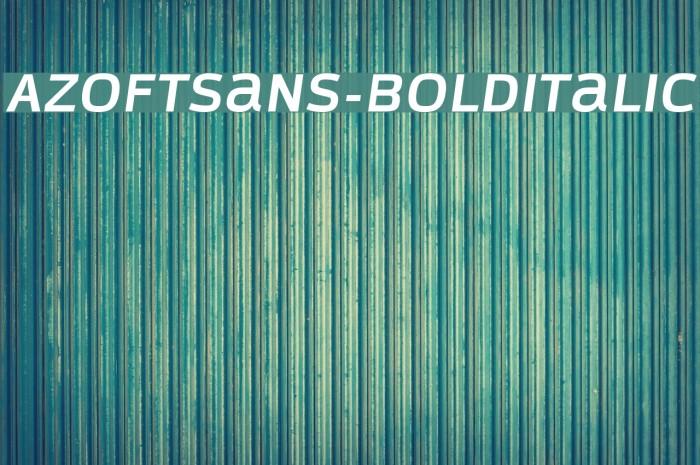 AzoftSans-BoldItalic Font examples