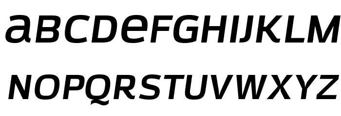 AzoftSans-BoldItalic Font LOWERCASE