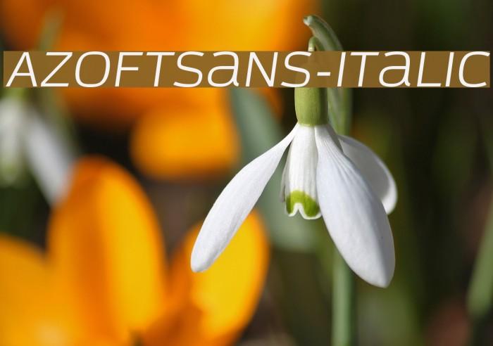 AzoftSans-Italic Font examples