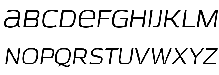 AzoftSans-Italic Font LOWERCASE