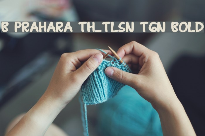 B Prahara TH_Tlsn Tgn Bold Font examples