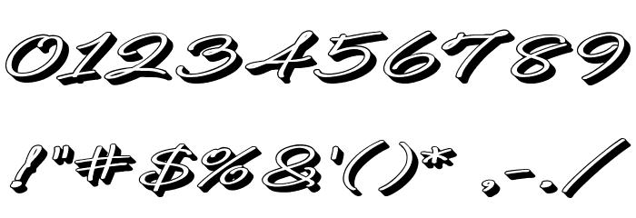 B de bonita Rotulo Шрифта ДРУГИЕ символов