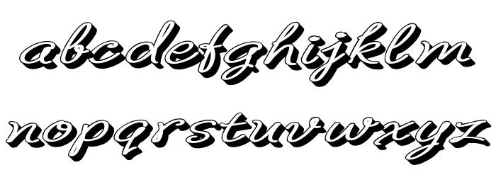 B de bonita Rotulo Font Litere mici