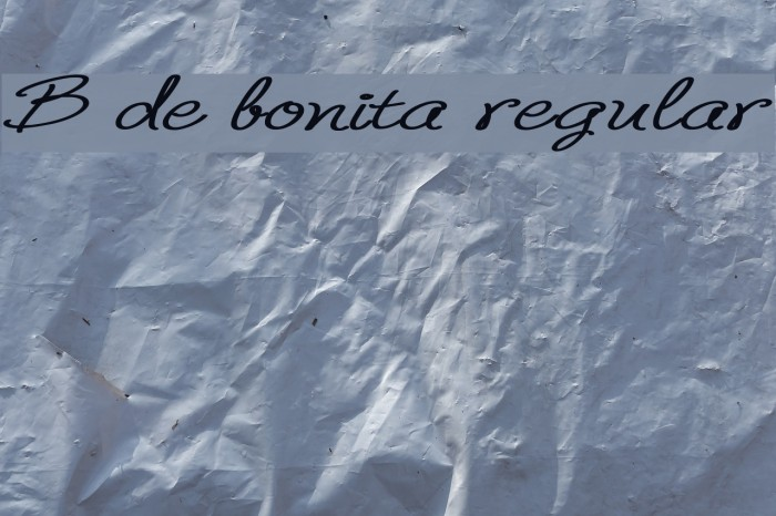 B de bonita regular Fonte examples