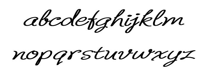 B de bonita regular Schriftart Kleinbuchstaben