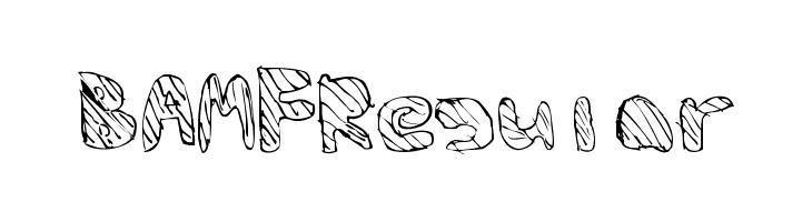 BAMFRegular  Скачать бесплатные шрифты