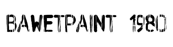 BAWetPaint-1980  Скачать бесплатные шрифты