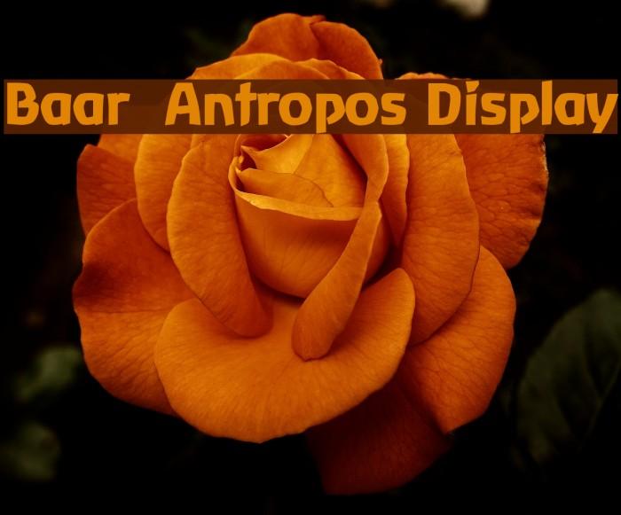 Baar  Antropos Display Font examples