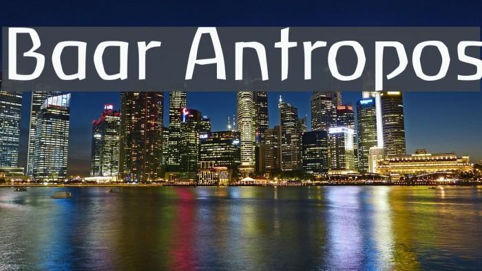 Baar Antropos Font examples