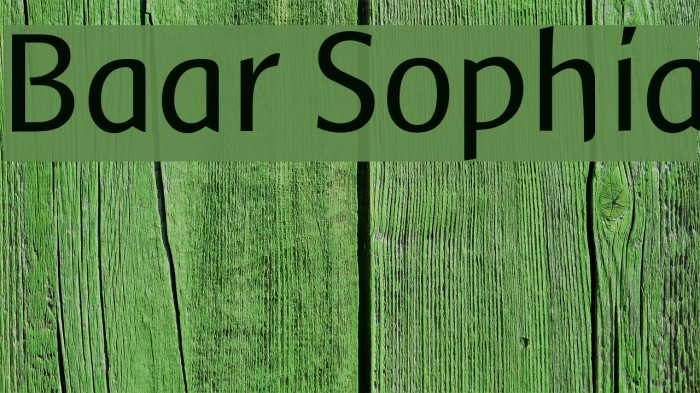 Baar Sophia फ़ॉन्ट examples