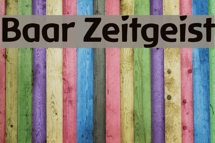 Baar Zeitgeist Fonte examples