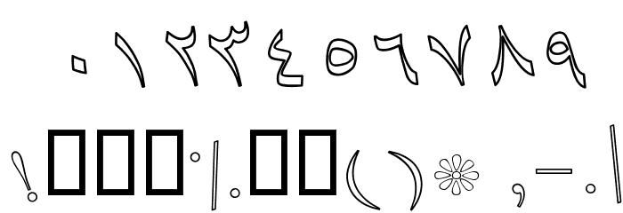 Baaraan Outline Italic फ़ॉन्ट अन्य घर का काम