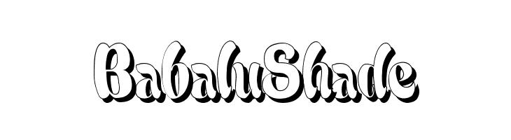 BabaluShade  Frei Schriftart Herunterladen
