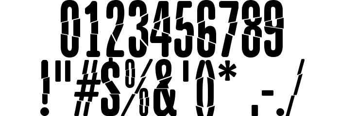 Babalusa Cut Шрифта ДРУГИЕ символов