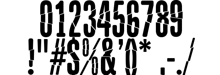 BabalusaCut Шрифта ДРУГИЕ символов