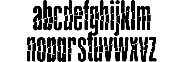 BabalusaCut Шрифта строчной