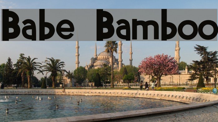 Babe Bamboo Font examples