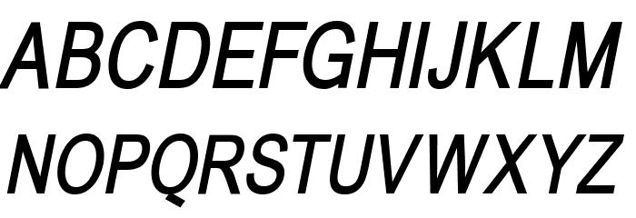 BabelSans-BoldOblique Font UPPERCASE