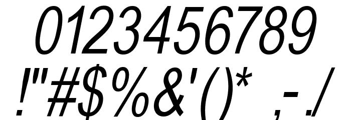 BabelSans-Oblique Font OTHER CHARS