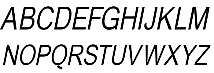 BabelSans-Oblique Font UPPERCASE