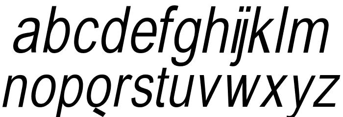 BabelSans-Oblique Font LOWERCASE