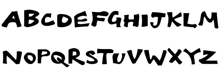 Babelfish Font UPPERCASE