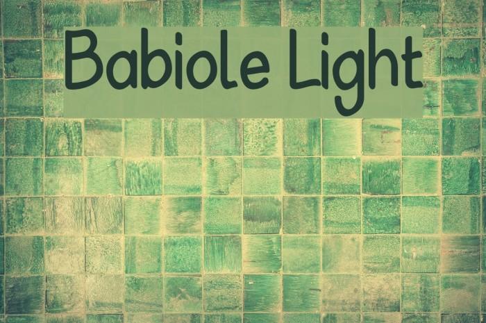 Babiole Light Font examples