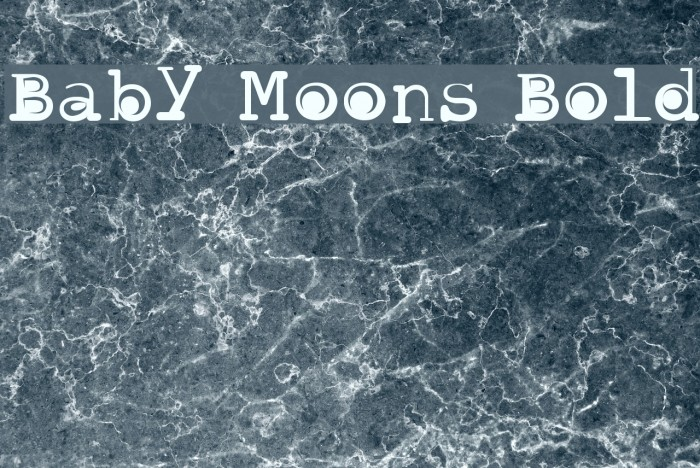 Baby Moons Bold 字体 examples