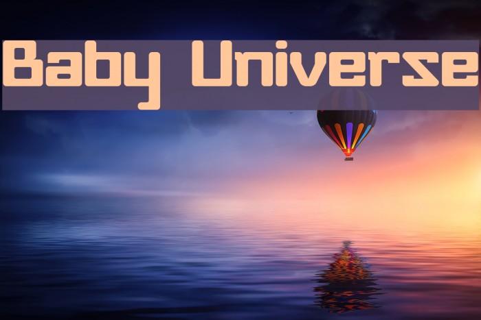 Baby Universe फ़ॉन्ट examples
