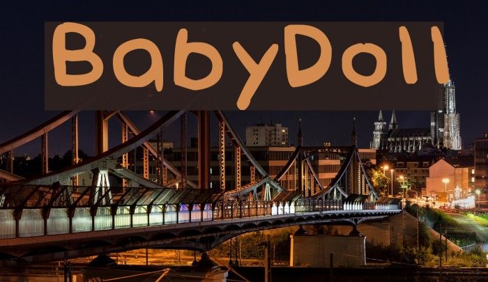 BabyDoll Font examples