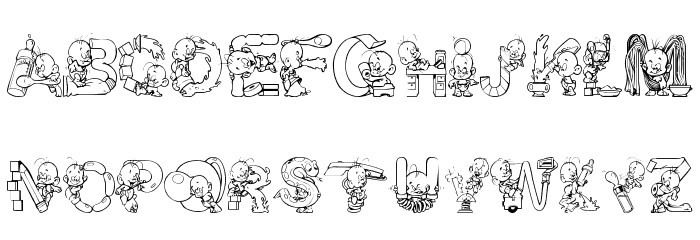 Baby! Font LOWERCASE